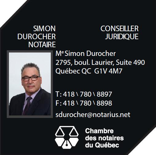 Me Simon Durocher, notaire - Quebec, QC G1V 4M7 - (418)780-8897 | ShowMeLocal.com