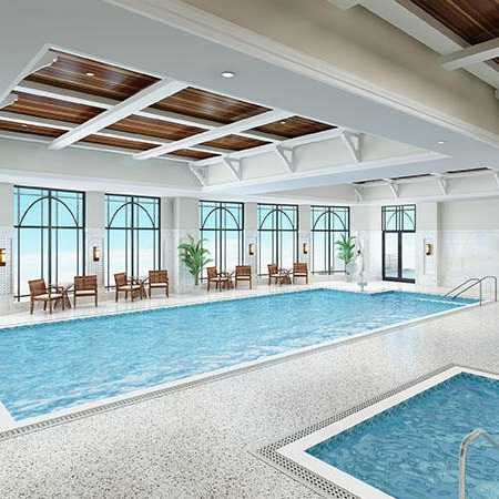 The pool at The Barclay at Southpark