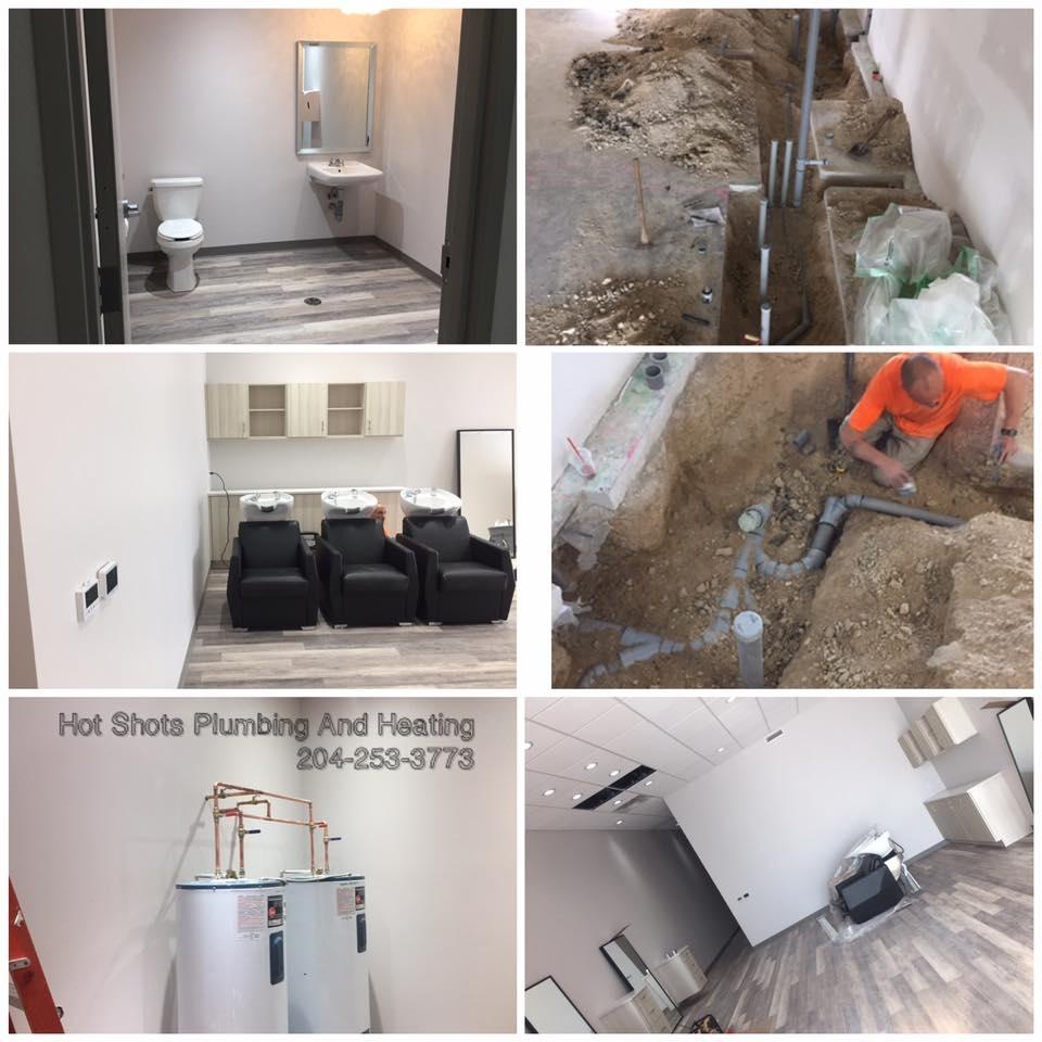 Hot Shots Plumbing & Heating Corporation in Winnipeg: Commercial Plumbing - Hot Water Tanks - Ground Works - Drainage