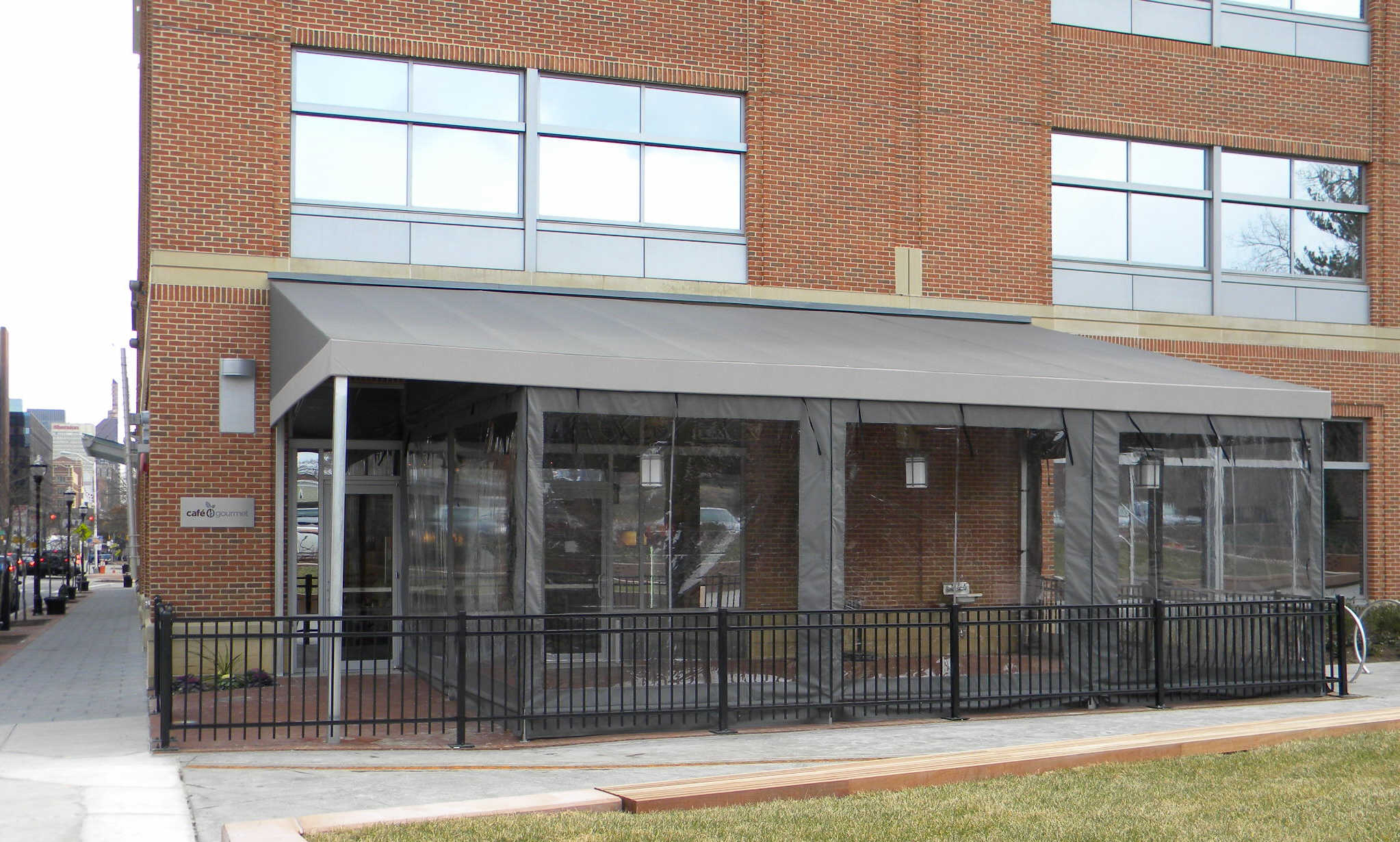 Room Addition using Clear Curtains Baltimore Restaurant Call A. Hoffman Awning in Baltimore     410-685-5687