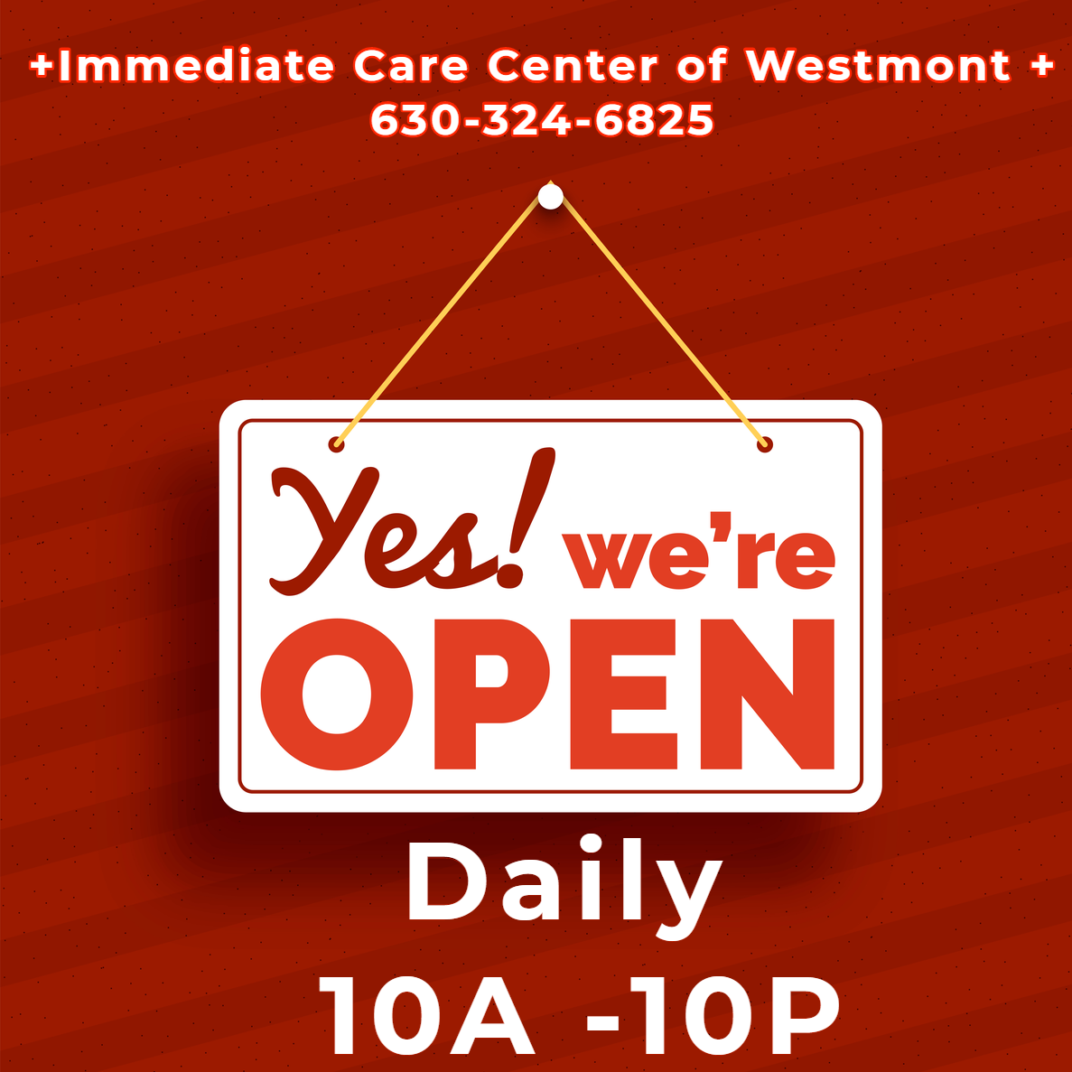 open every day 10a - 10p urgent care westmont, il