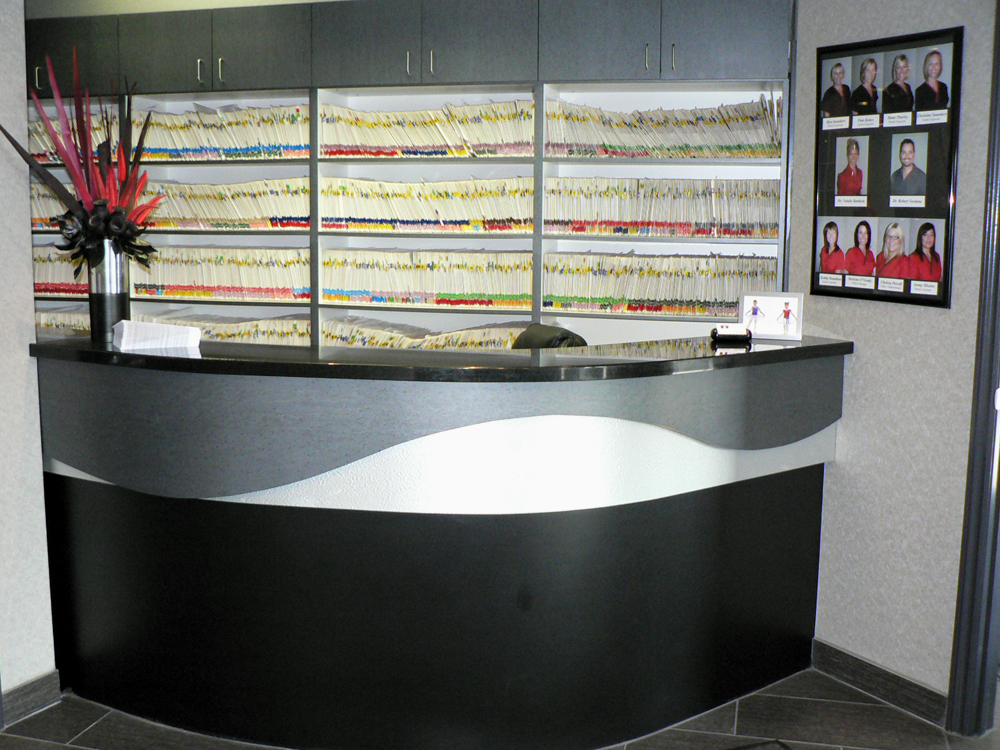 Meadowlands Dental Office in Ancaster: Front desk, where you will always be welcomed with a friendly smile :)