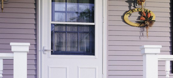 Storm doors that help make your entry door more energy-efficient and keep your entryway more comfortable