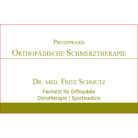 Bild zu Dr.med. Fritz Schmutz Privatpraxis Orthopädische Schmerztherapie in Baden-Baden
