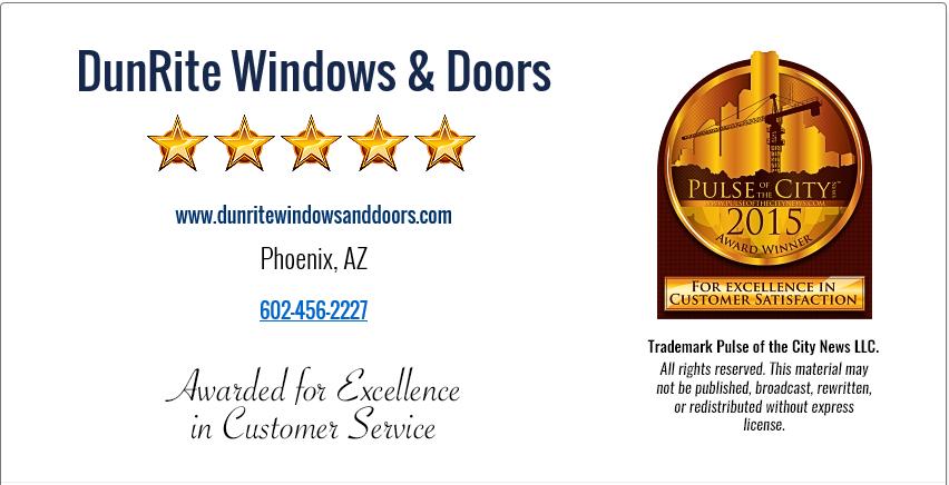 Dunrite windows doors in phoenix az 85050 for Dunrite
