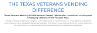 The Texas Veterans Vending Difference