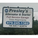 Presley's Alternator and Starter