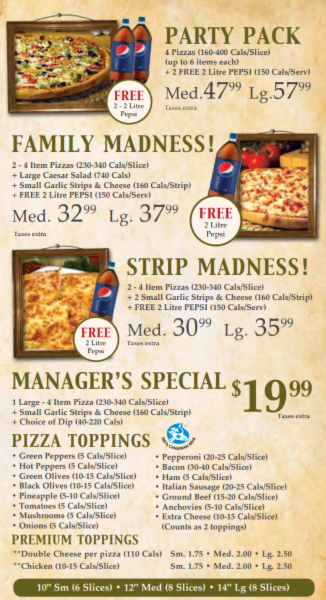 Images Godfathers Pizza - Walkerton