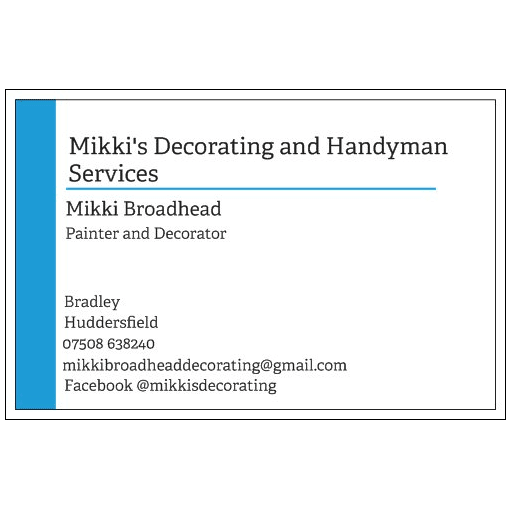 Mikki's Decorating and Handyman Services - Huddersfield, West Yorkshire HD2 1TB - 07508 638240 | ShowMeLocal.com