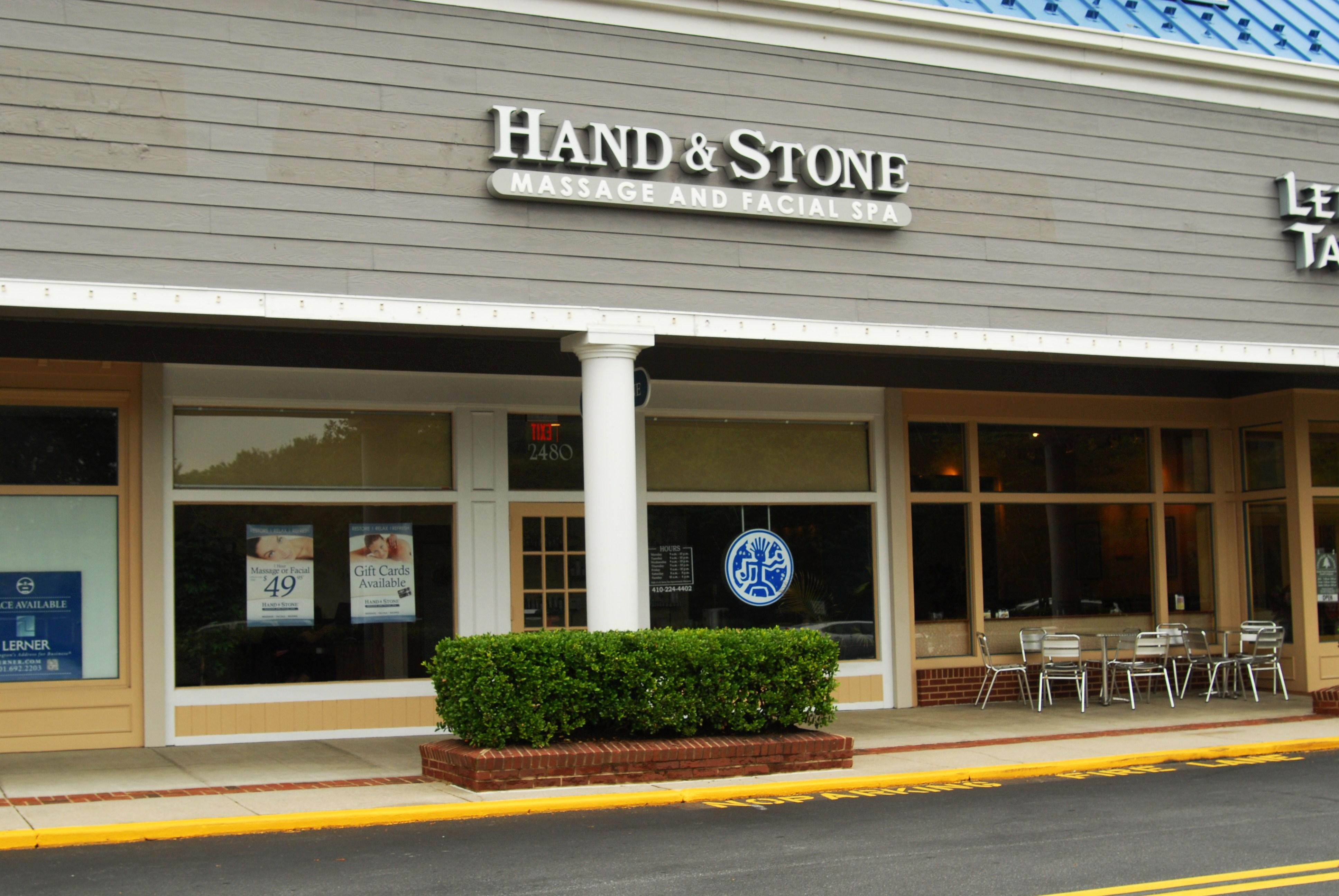 Spa in MD Annapolis 21401 Hand & Stone Massage and Facial Spa 2480 Solomon's Island Rd  (443)837-7726