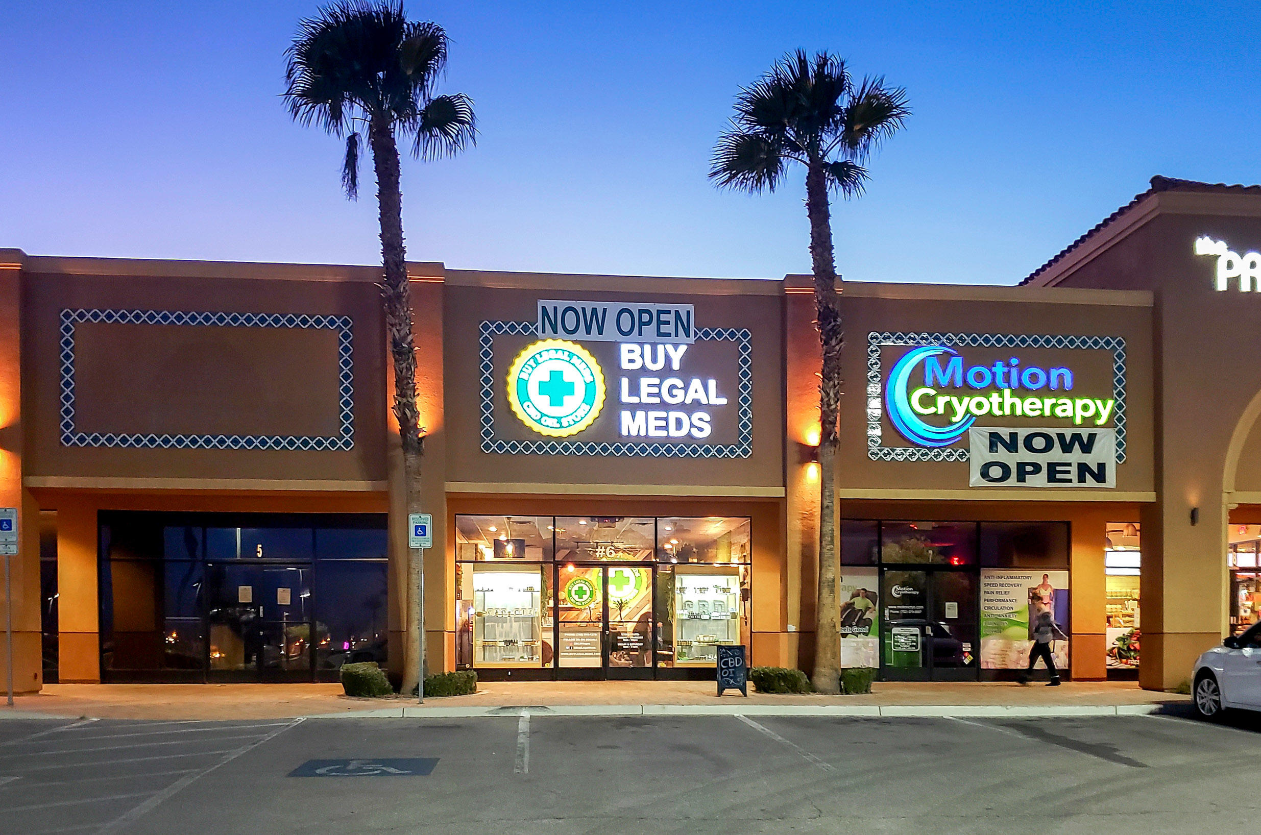 Storefront of Buy Legal Meds - CBD Dispensary on Flamingo
