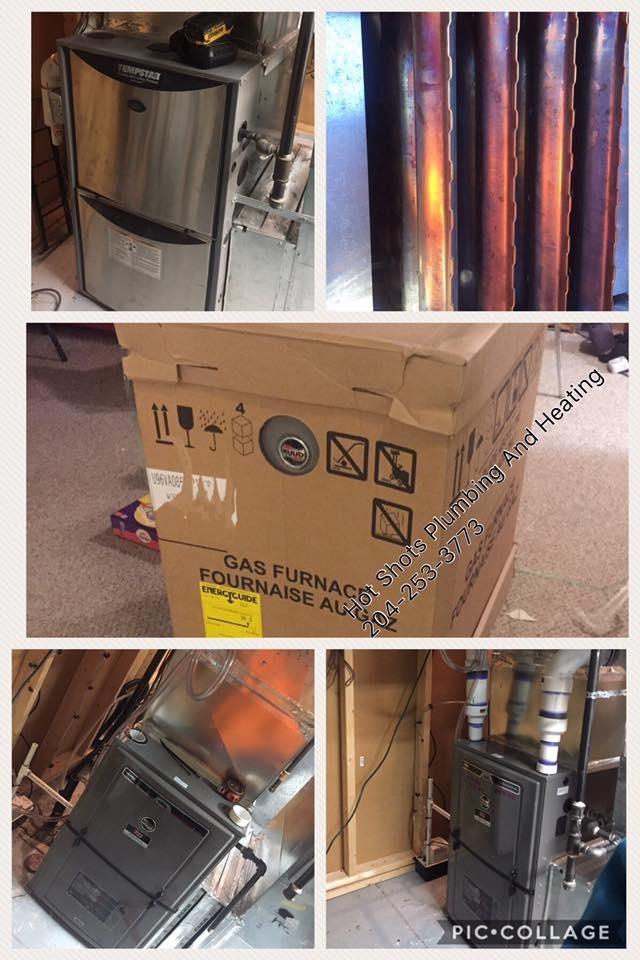 Hot Shots Plumbing & Heating Corporation in Winnipeg: Furnace Installation