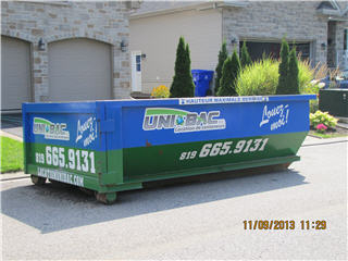 Location de conteneurs Unibac à Gatineau