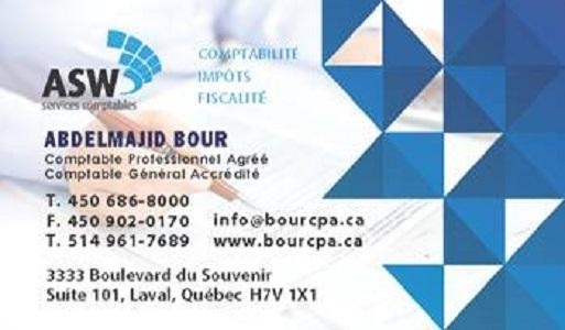ASW Services Comptables Laval (450)686-8000