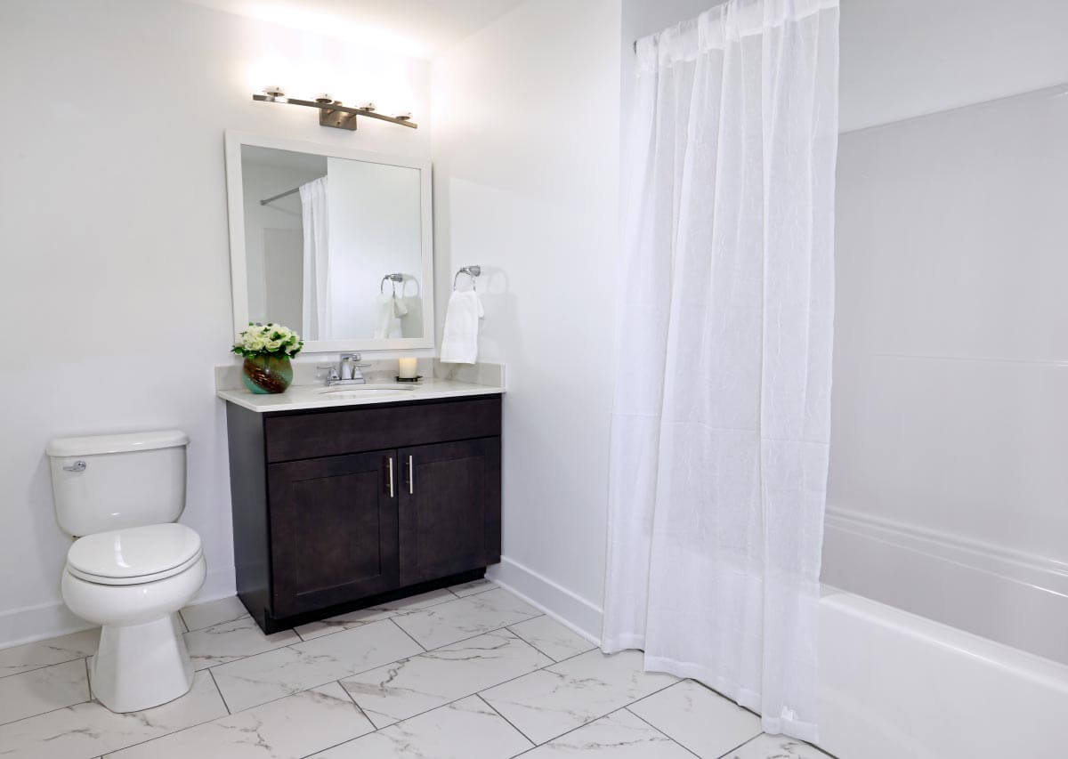 Beautiful large baths in renovated units Oxford Heights Albany (518)456-4822