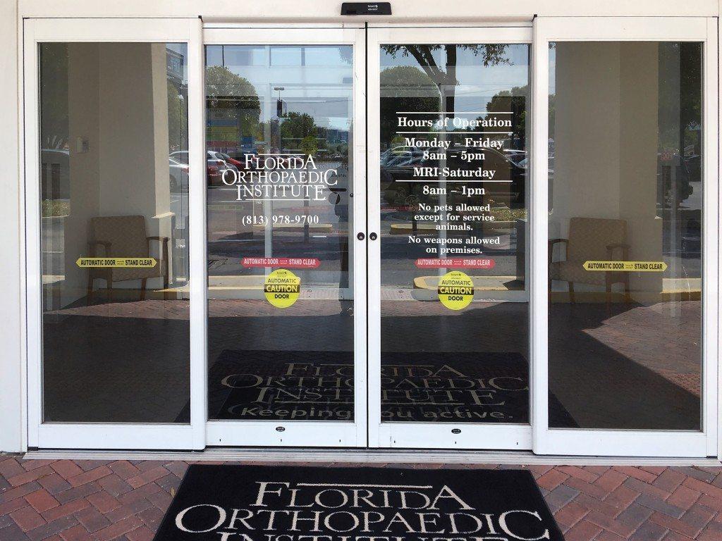 Exterior of Florida Orthopaedic Institute & Orthopaedic Urgent Care South Tampa Office
