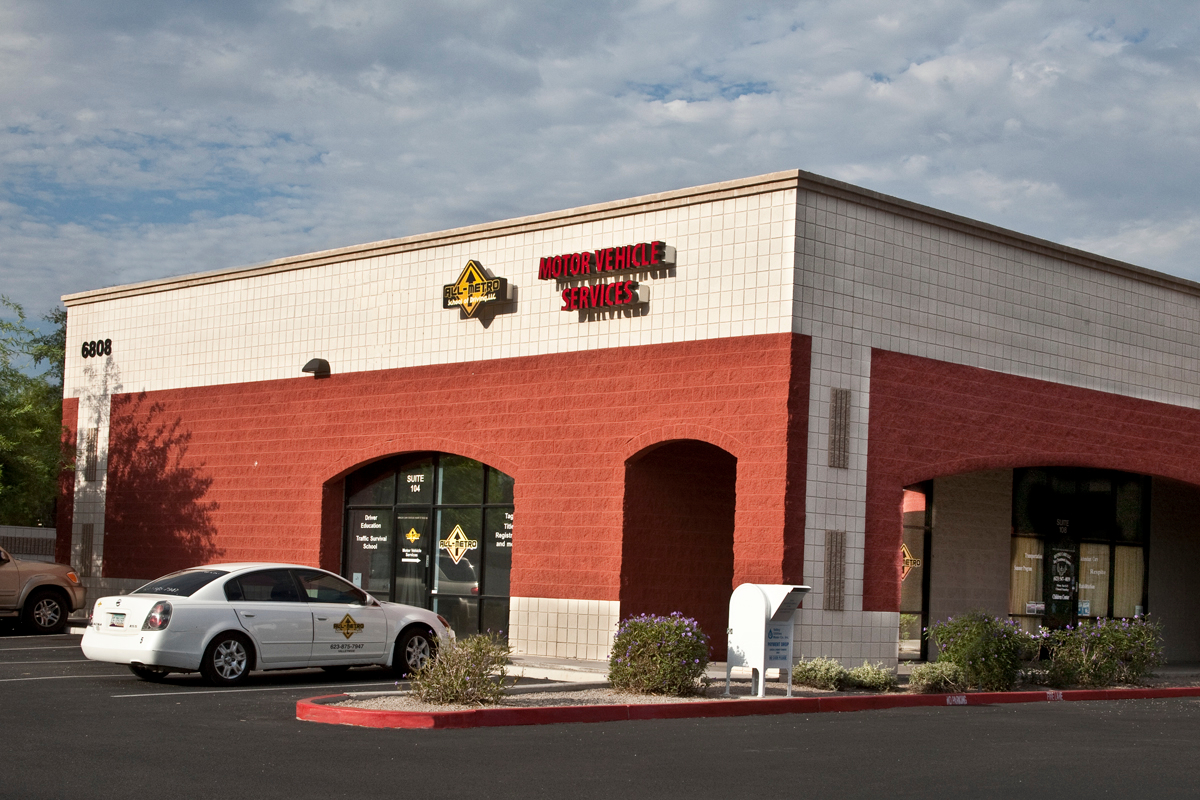 All metro motor vehicle services in glendale az 85307 for Motors and vehicles az