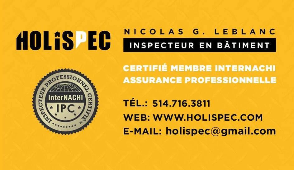 Inspection Holispec - Montreal, QC H1N 0B1 - (514)716-3811 | ShowMeLocal.com