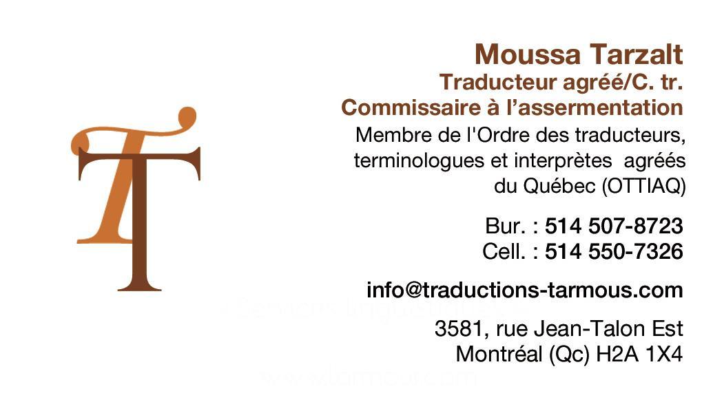 Service d'Immigration et de Traduction Tarmous à Montréal