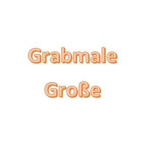 Grabmale Große