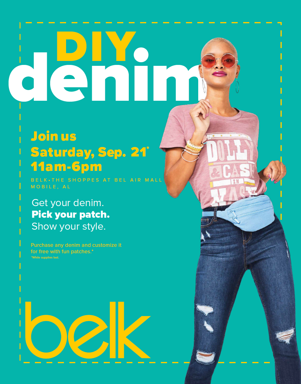 DIY Denim Experience at Belk Mobile, AL