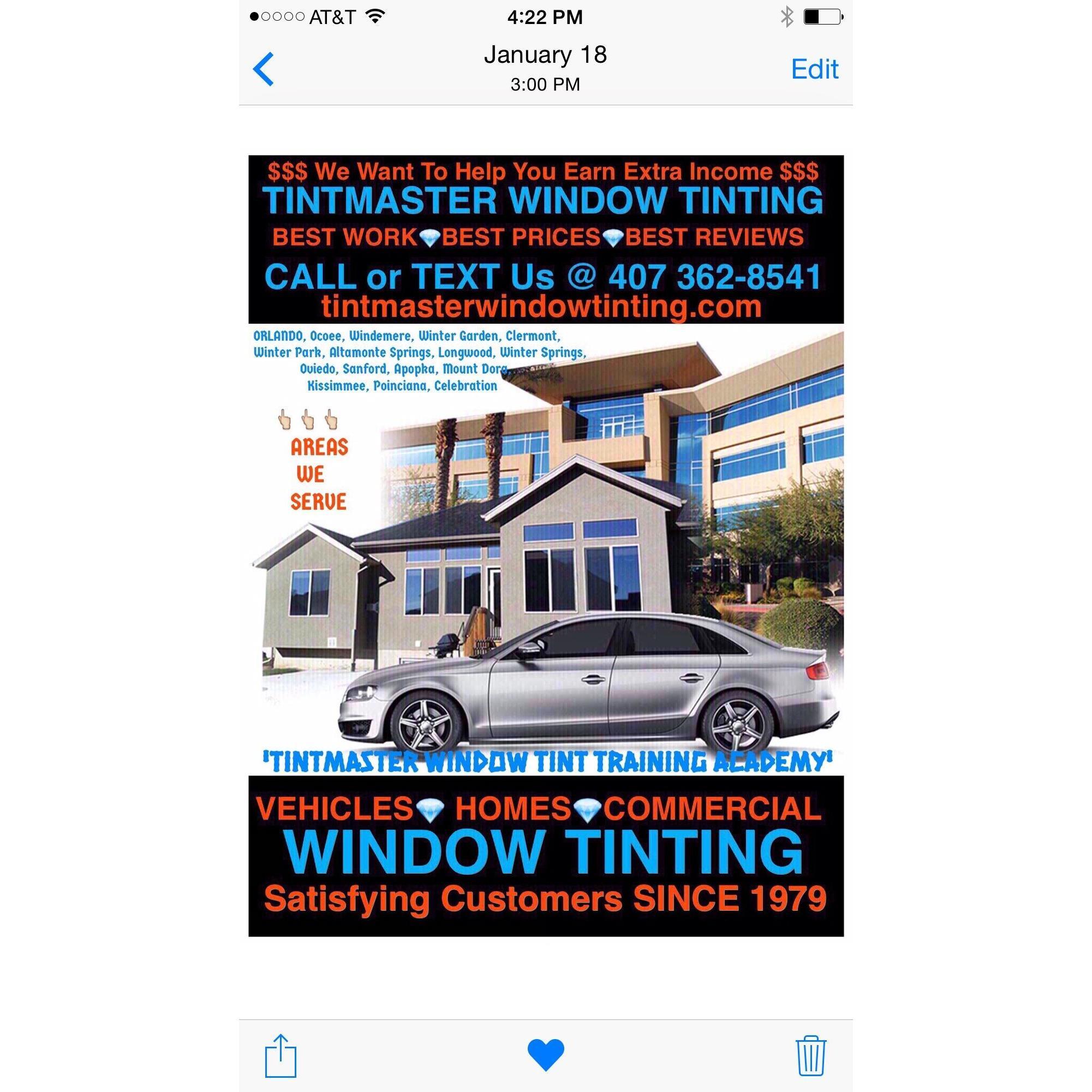 Tint Master Window Tinting