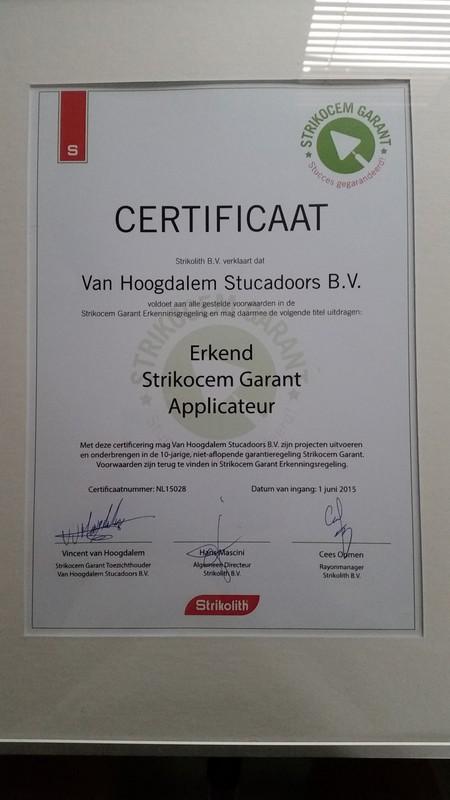 Stucadoorsbedrijf Van Hoogdalem BV