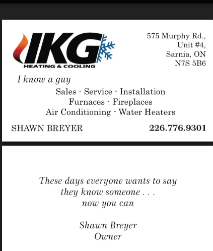 IKG Heating & Cooling Sarnia (226)776-9301