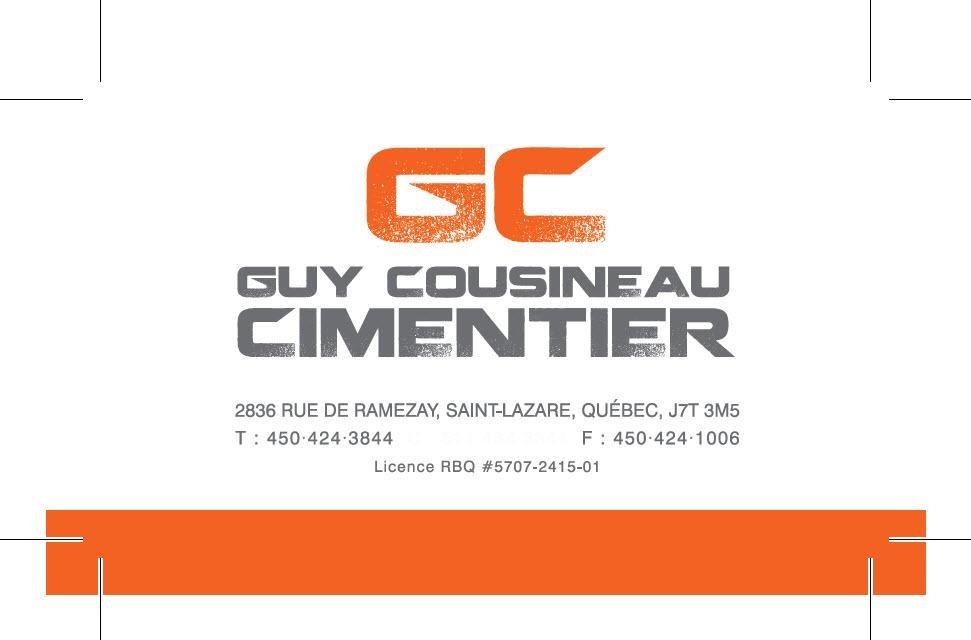 Guy Cousineau Cimentier - Saint-Lazare, QC J7T 3M5 - (450)424-3844 | ShowMeLocal.com