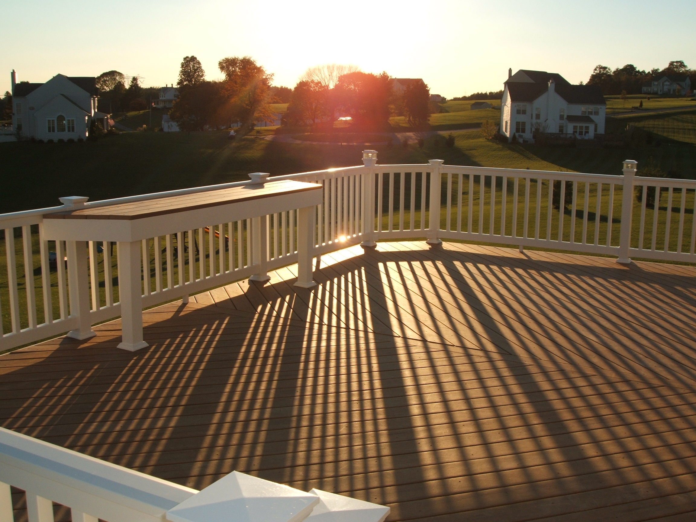 Creative deck designs incorporated in white marsh md for Neat deck ideas