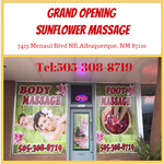 Grand opening  Sunflower Massage Tel:505-308-8719  7413 Menaul Blvd NE.Albuquerque, NM 87110