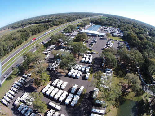 An aerial image of the General RV Tampa location.