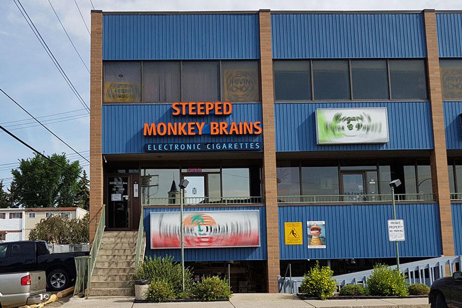 Outside Steeped Monkey Brains Steeped Monkey Brains Edmonton (780)757-8273