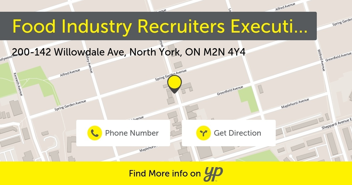 Food Industry Recruiters Executive Search Toronto (416)733-2696