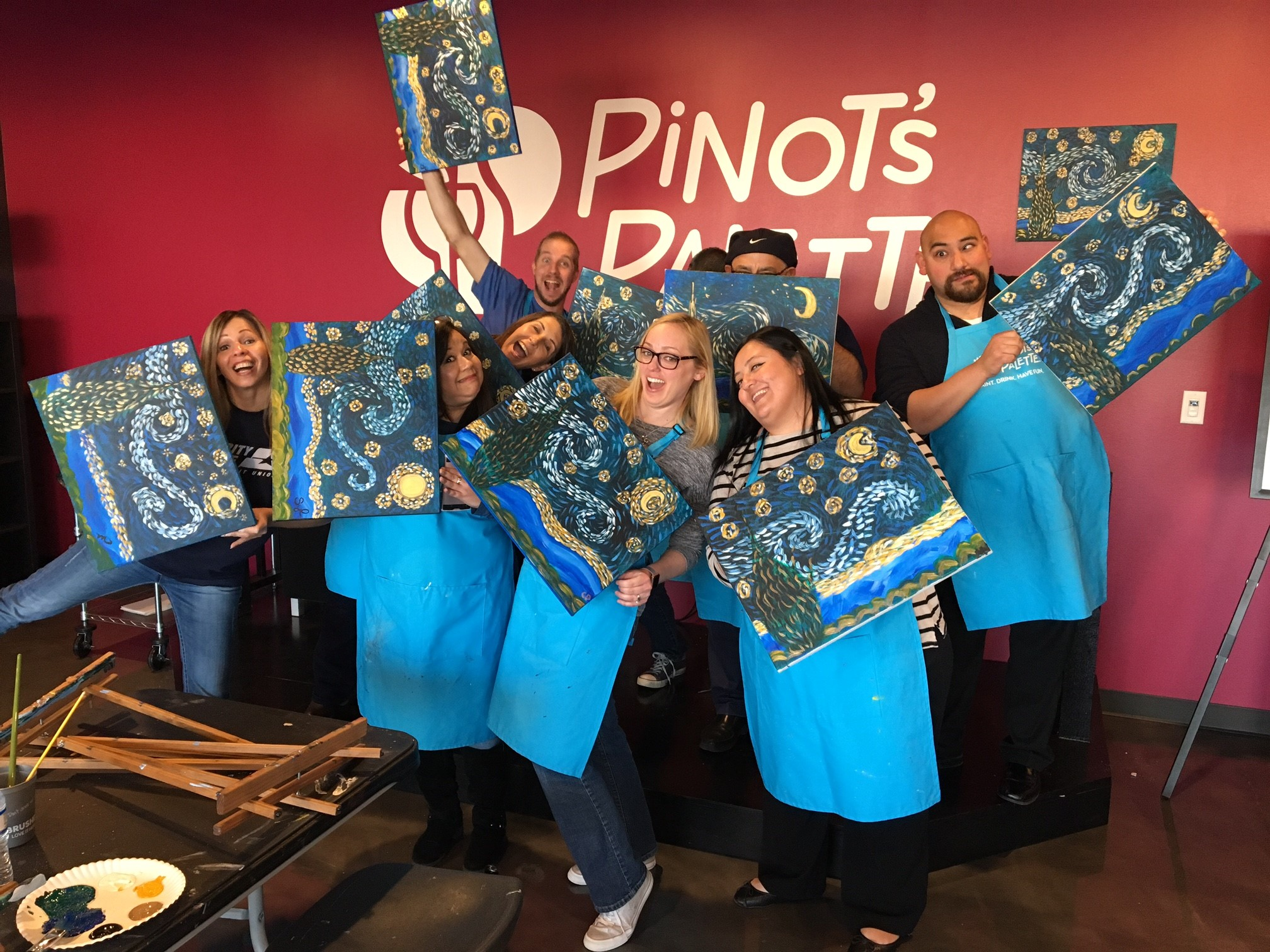 Pinot 39 s palette in helotes tx 78023 for Wine and paint san antonio