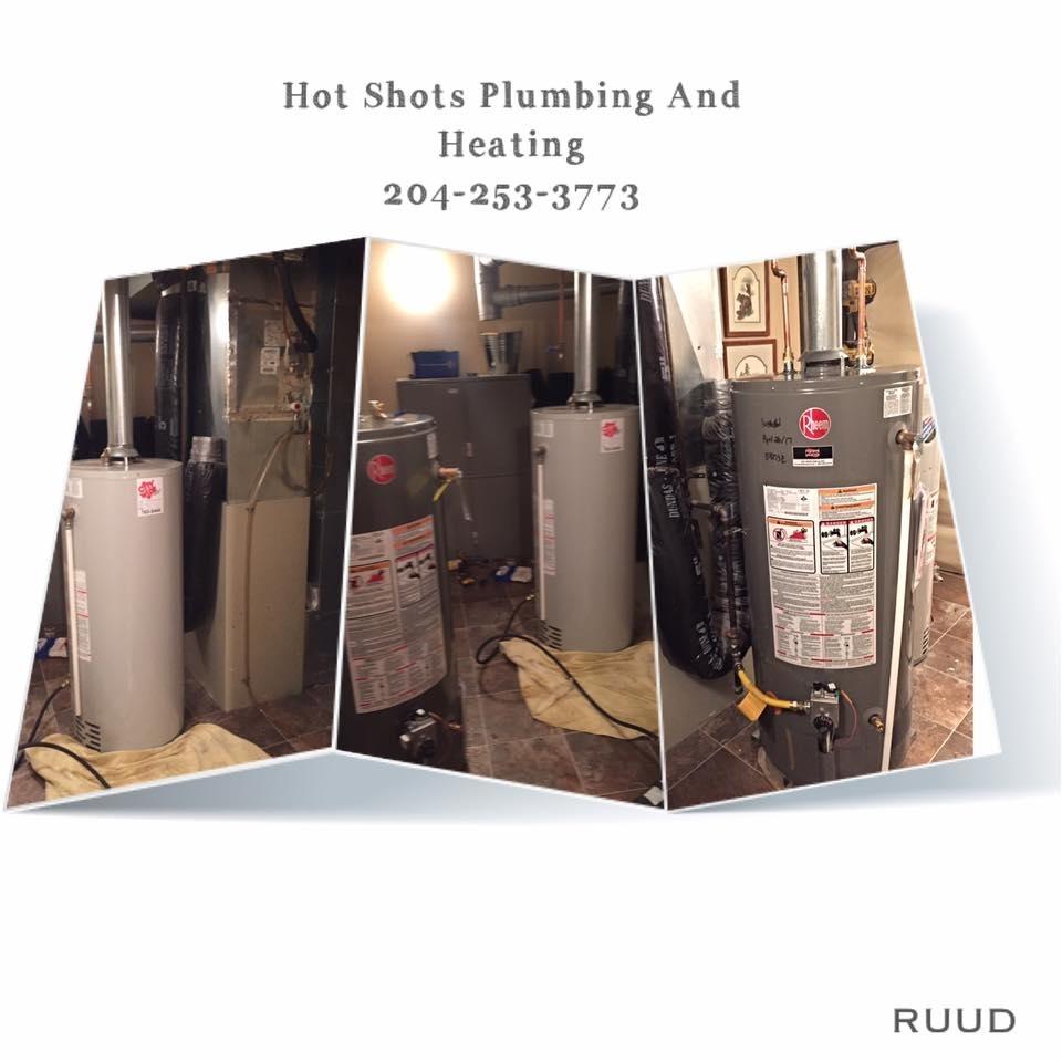 Hot Shots Plumbing & Heating Corporation in Winnipeg: Hot Water Tank - Water Heater Replacement Installation