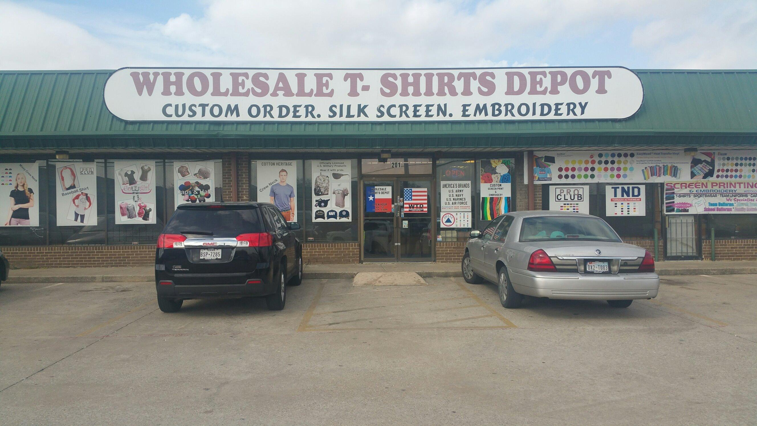 wholesale t shirts depot inc in dallas tx 75229