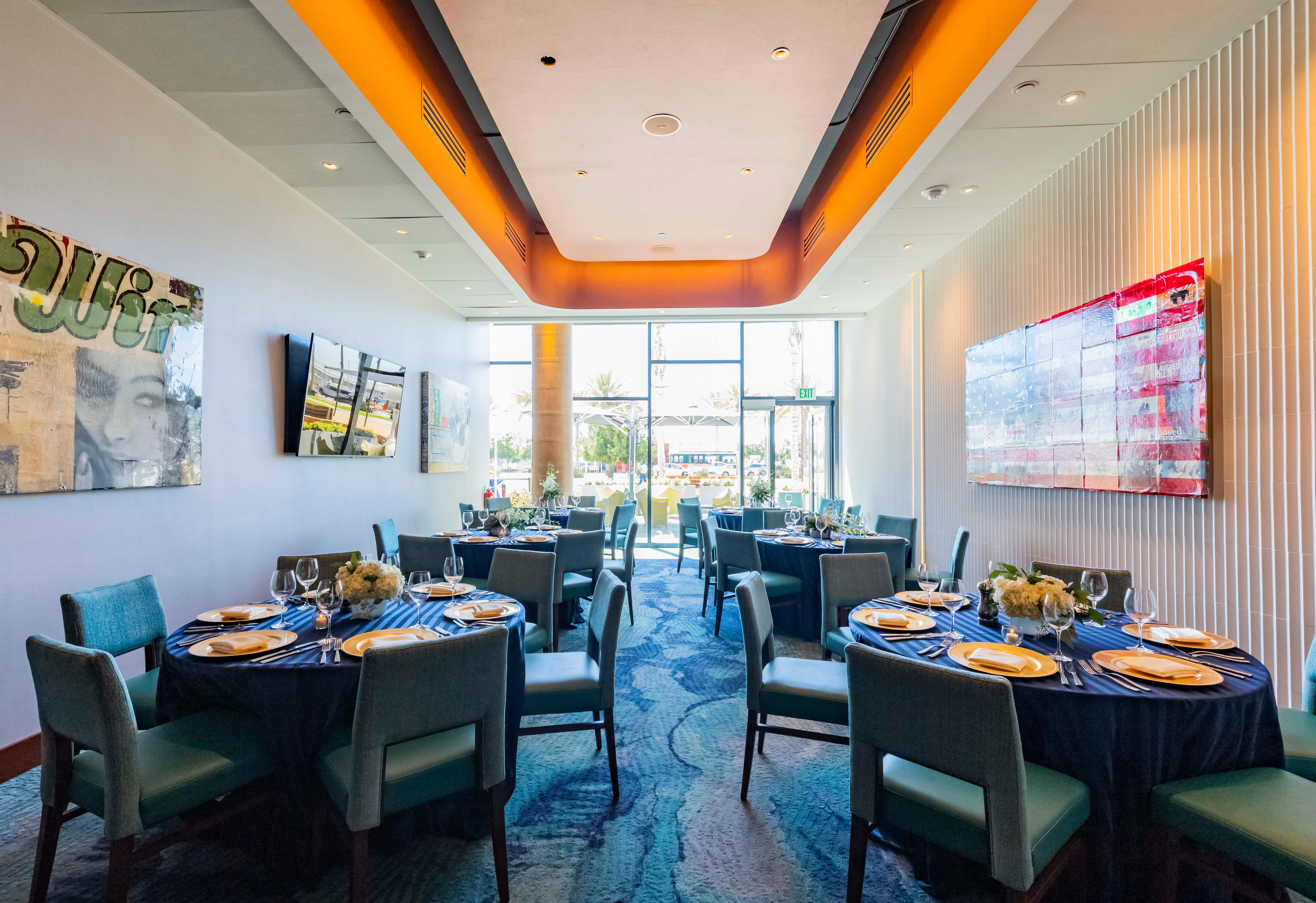 Del Frisco's Double Eagle Steakhouse San Diego Harbor Room private dining room