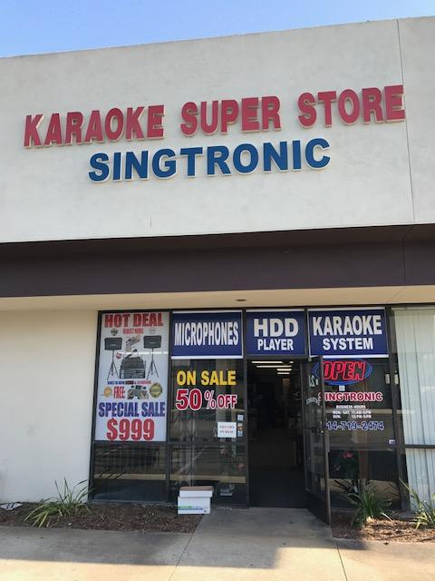 Outside Front Entrance to the Store Singtronic Garden Grove (714)554-4200