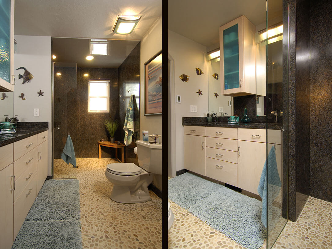 Relaxing bathroom transformation in colorado springs