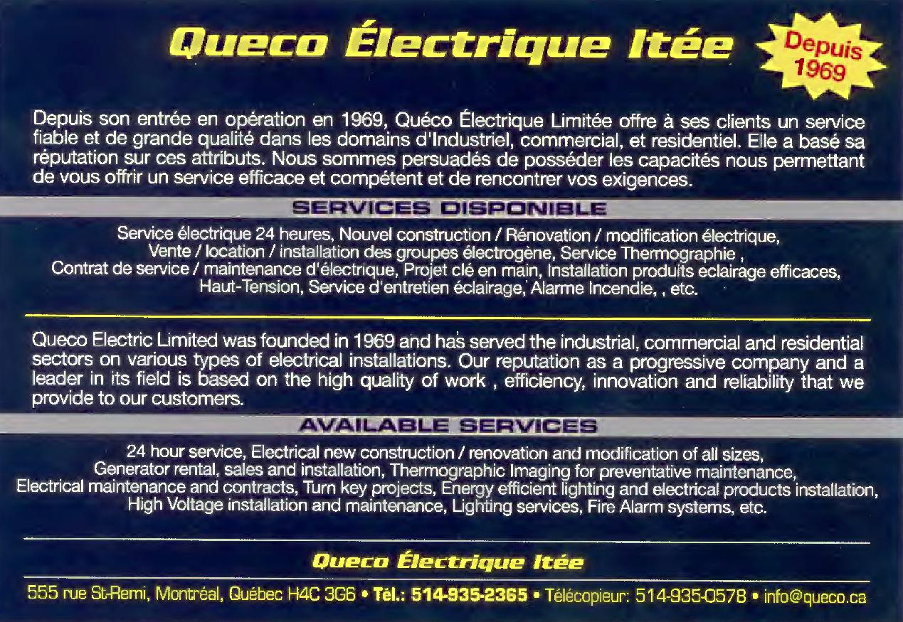 Queco Electric Ltd à Montréal