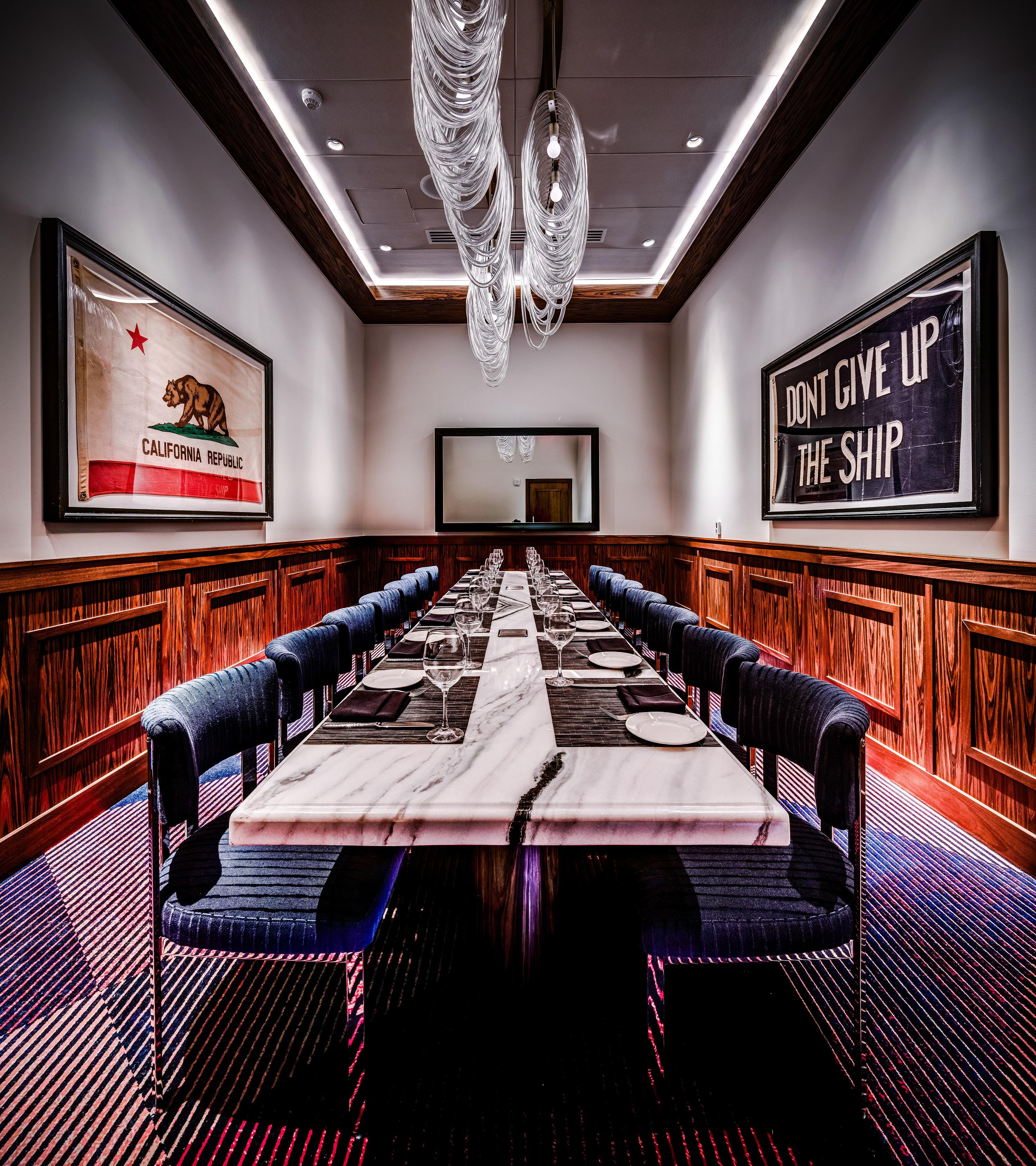 Del Frisco's Double Eagle Steakhouse Los Angeles Board Room private dining room
