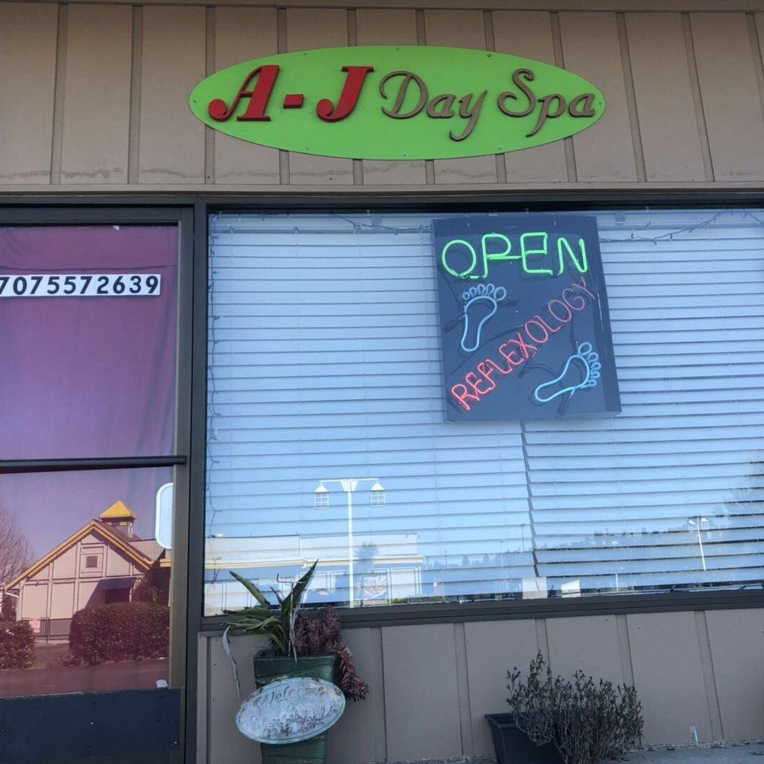 A.J Day Spa Open 7 Days A Week:10am to 9pm  Address: 1037 Redwood St.Vallejo, CA 94590  Call: (707) 557-2639