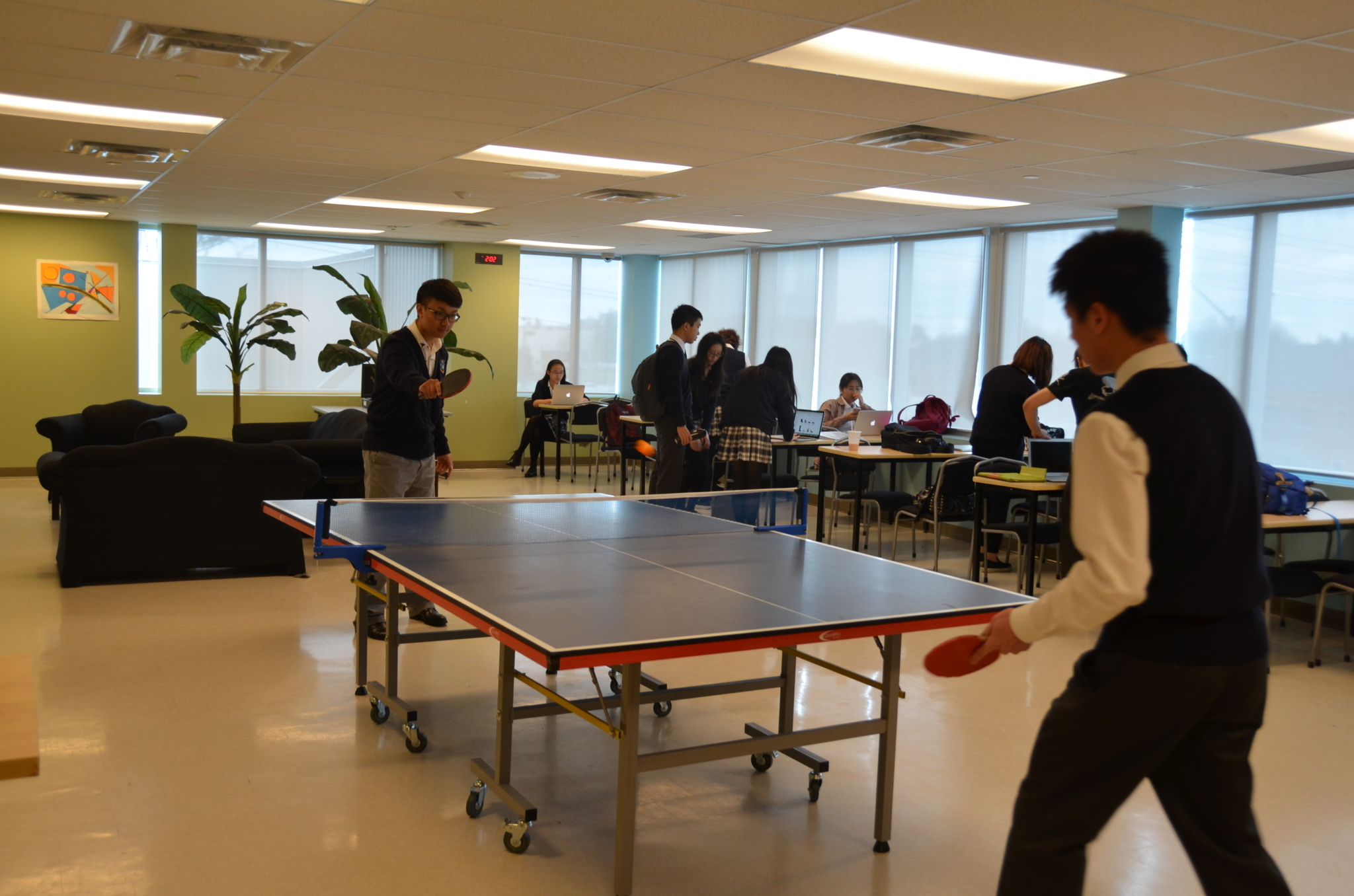 J Addison School in Markham: One of the many J. Addison Boarding facilities is the spacious common room.