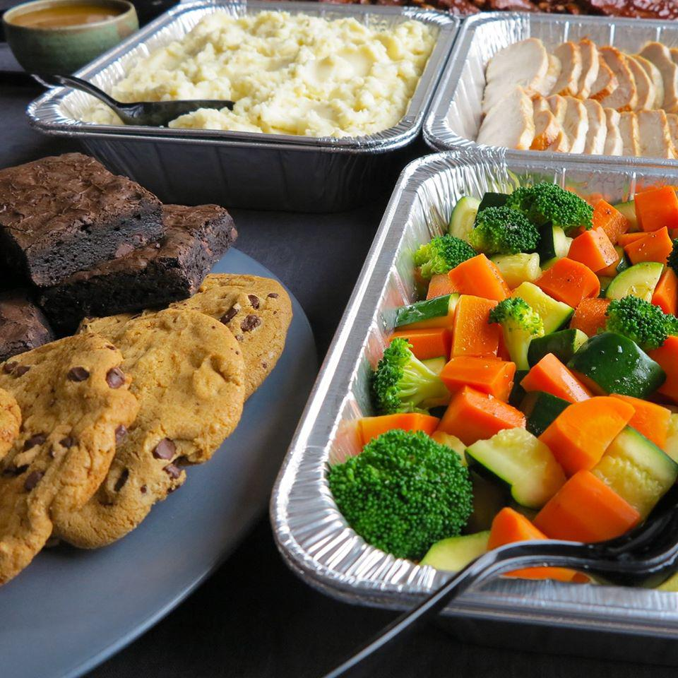 Cater like a boss with a hot buffet, sandwiches, or salads.