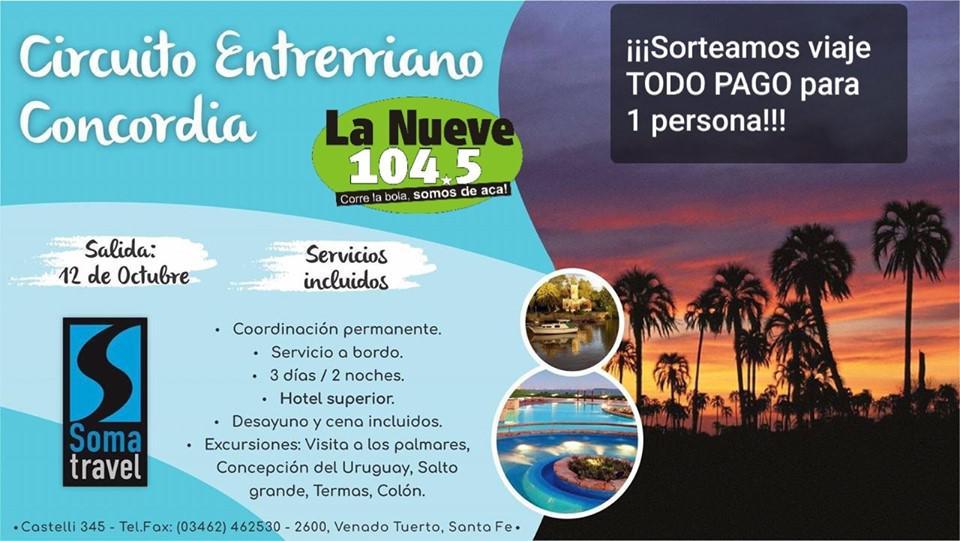 RADIO LA NUEVE FM 104.5 MHZ - CORRE LA BOLA - SOMOS DE ACA