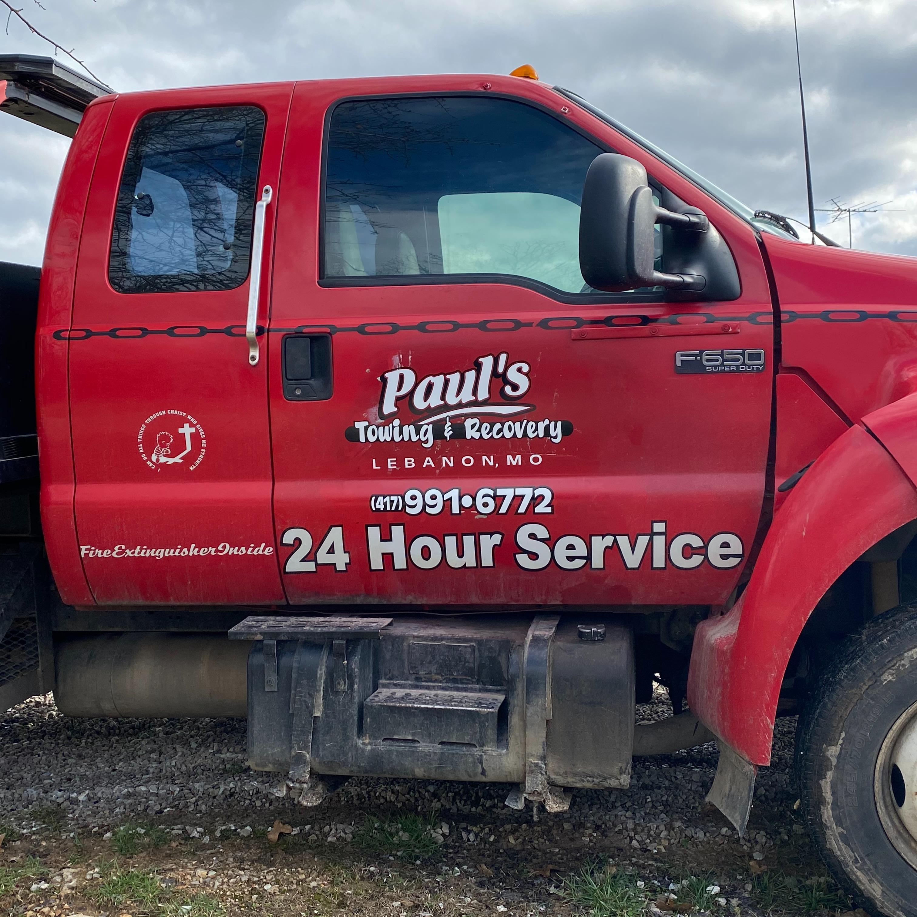 Paul's Towing & Recovery - Lebanon, MO 65536 - (417)991-6772 | ShowMeLocal.com