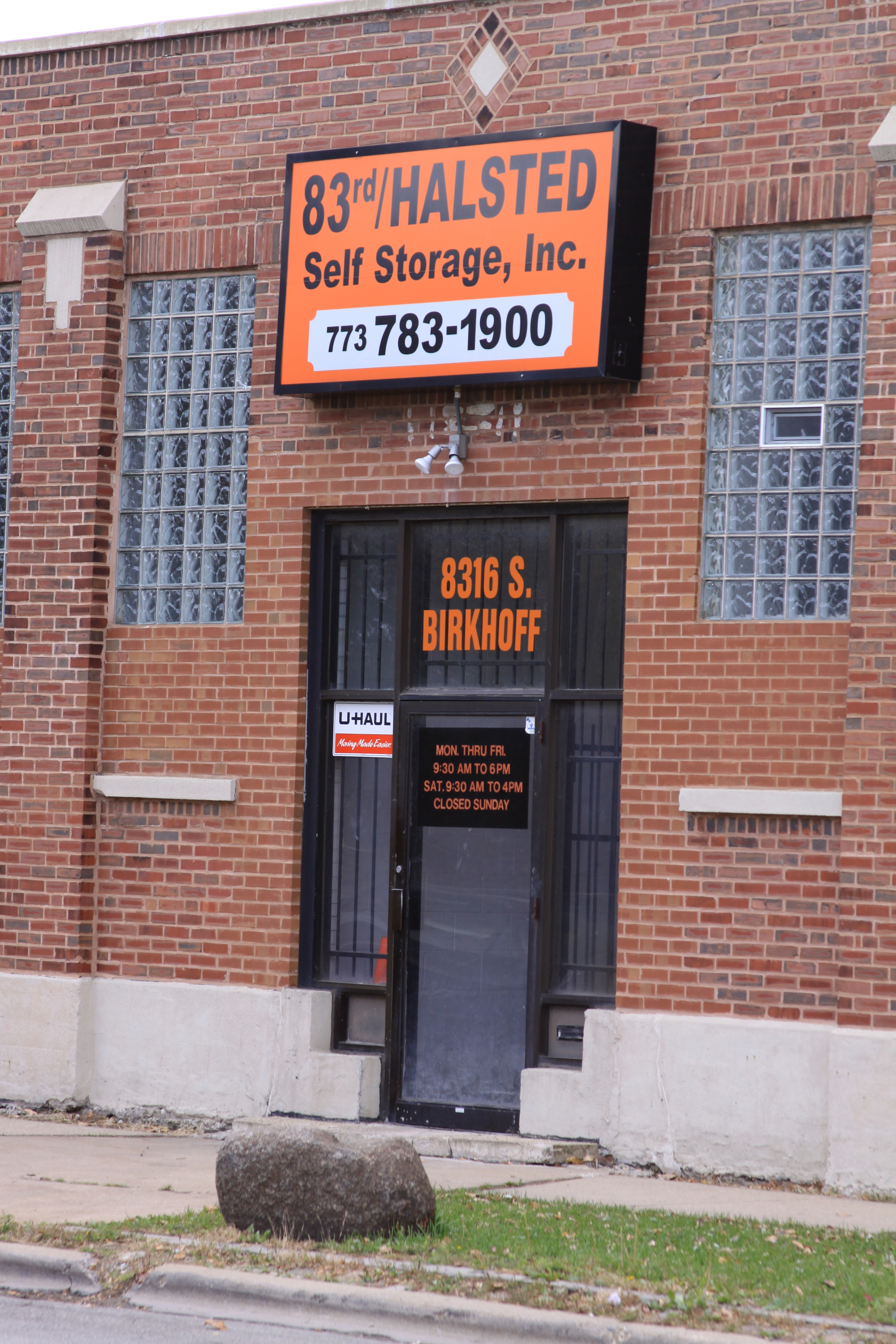 83rd Halsted Self Storage, Inc. Chicago (773)783-1900