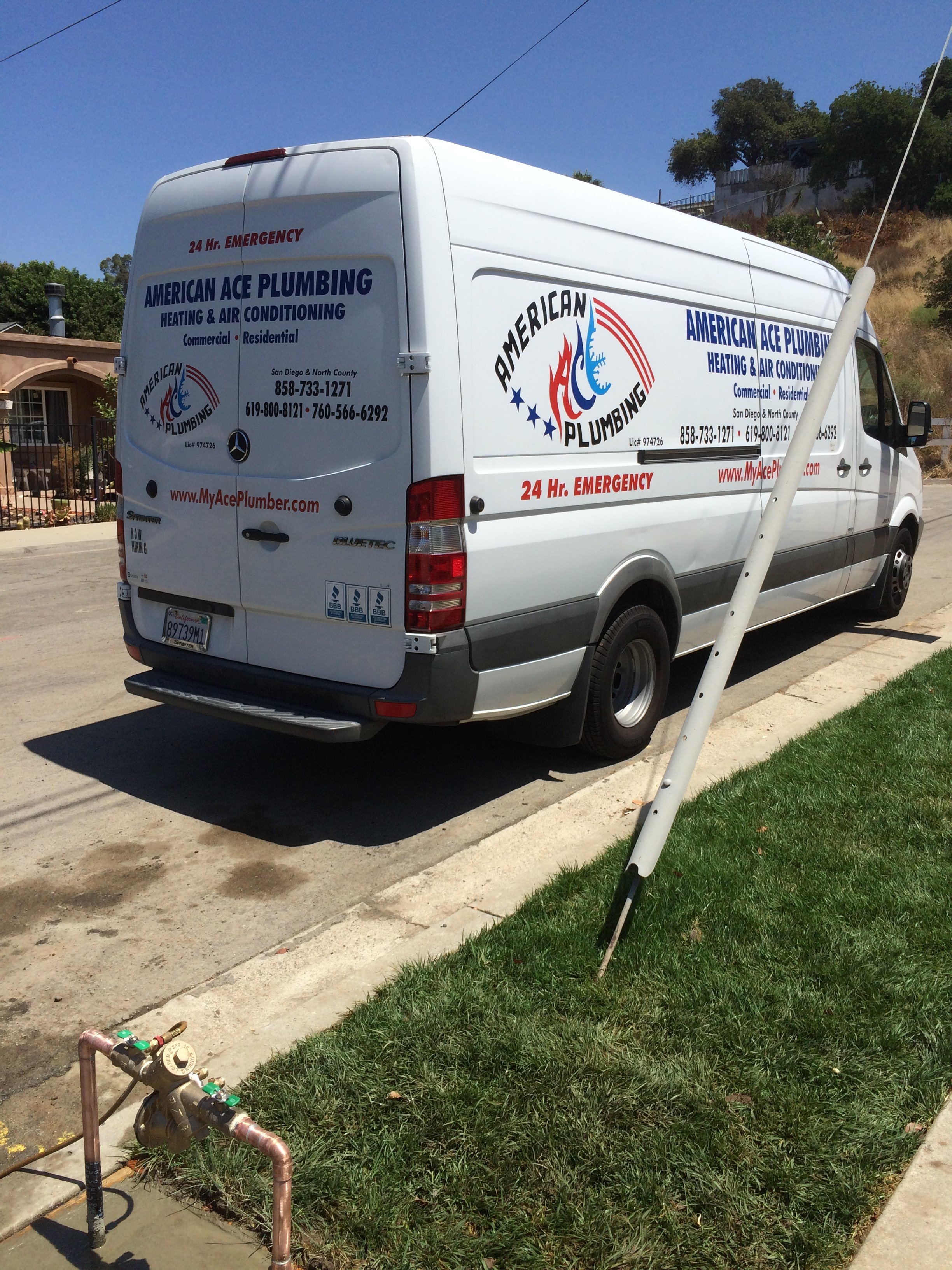 American ace plumbing heating and air conditioning in san for Santee business license