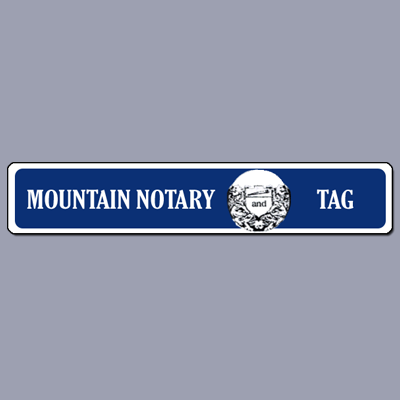 Mountain Notary & Tag Service